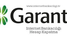 Garanti İnternet Bankacılığı Hesap Kapatma