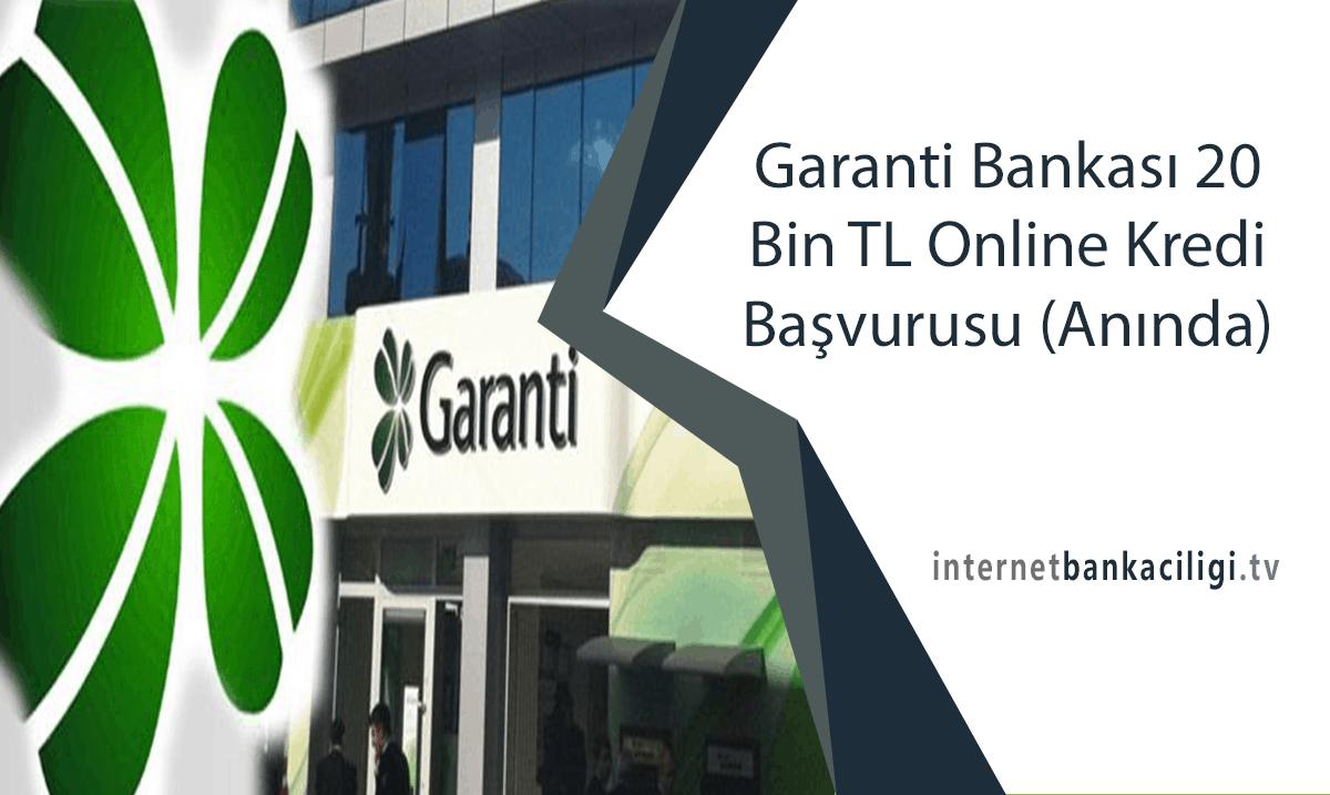 Photo of Garanti Bankası 20 Bin TL Online Kredi Başvurusu (Anında)