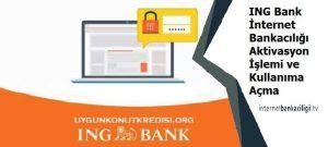ing bank internet bankaciligi aktivasyon nasil yapilir