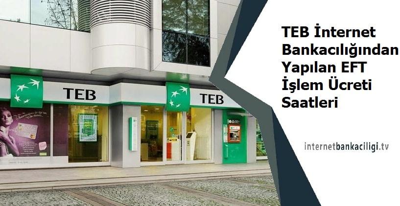 Photo of TEB İnternet Bankacılığından Yapılan EFT İşlem Ücreti Saatleri