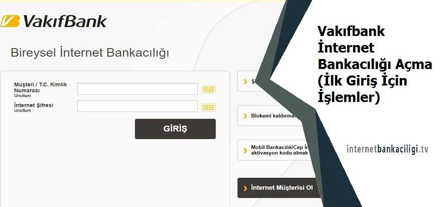 Photo of Vakıfbank İnternet Bankacılığı Açma (İlk Giriş İçin İşlemler)